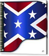 Grand Piano Confederate Flag Acrylic Print