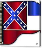 Grand Piano Mississippi Flag Acrylic Print