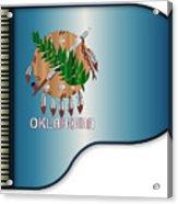 Grand Piano Oklahoma Flag Acrylic Print