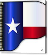 Grand Piano Texas Flag Acrylic Print