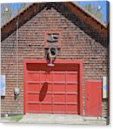 Grantham Barn With Quilt Squares Acrylic Print
