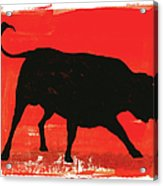 Graphic Bull Illustration Acrylic Print