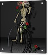 Grateful Penny Farthing Skeleton Acrylic Print