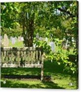 Graveyard Bench Acrylic Print