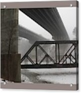 Gray Day Bridging Acrylic Print