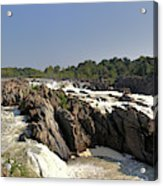 Great Falls On The Potomac Panorama  Acrylic Print