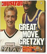 Great Move, Gretzky Magic Johnson Welcomes Wayne Gretzky To Sports Illustrated Cover Acrylic Print