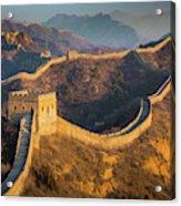 Great Wall Last Light Acrylic Print