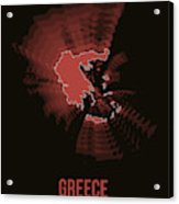 Greece Radiant Map 3 Acrylic Print