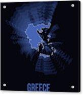 Greece Radiant Map II Acrylic Print