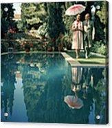 Greek Garden Acrylic Print