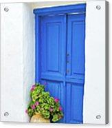 Greek Island Doorway Acrylic Print