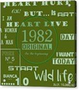Green 1982 Original Acrylic Print