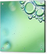 Green And Blue Bubbles Background Acrylic Print