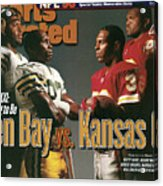Green Bay Packers And Kansas City Chiefs, 1996 Nfl Football Sports Illustrated Cover Acrylic Print