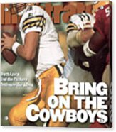 Green Bay Packers Qb Brett Favre, 1996 Nfc Divisional Sports Illustrated Cover Acrylic Print