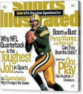 Green Bay Packers Qb Brett Favre, 1998 Nfl Football Preview Sports Illustrated Cover Acrylic Print