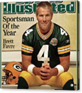 Green Bay Packers Qb Brett Favre, 2007 Sportsman Of The Year Sports Illustrated Cover Acrylic Print