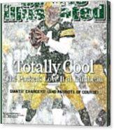 Green Bay Packers Qb Brett Favre, 2008 Nfc Divisional Sports Illustrated Cover Acrylic Print
