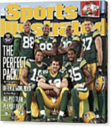 Green Bay Packers The Perfect Pack Sports Illustrated Cover Acrylic Print