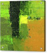 Green Envy Abstract Painting Acrylic Print