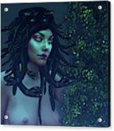 Green Eyed Medusa Acrylic Print