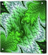 Green Frosty Canyon Acrylic Print
