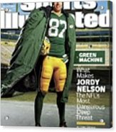 Green Machine What Makes Jordy Nelson The Nfls Most Sports Illustrated Cover Acrylic Print