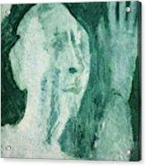 Green Portrait Acrylic Print