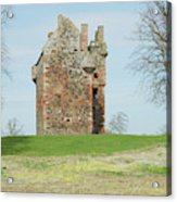 Greenknowe Tower Ruin Acrylic Print