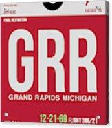 Grr Grand Rapids Luggage Tag II Acrylic Print