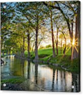 Guadalupe River Sunset Acrylic Print