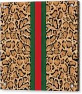 Gucci Leopard Print-1 Acrylic Print