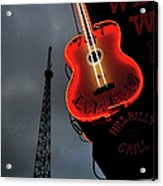 Guitar With Nashville Acrylic Print