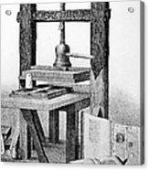 Gutenberg Printing Press Acrylic Print