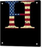 H Qanon Wwg1wga Usa Flag Group Q Anon Great Awakening Acrylic Print