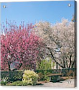Springtime At Untermyer Park Acrylic Print