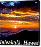 Haleakala Hawaii Acrylic Print
