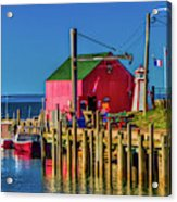 Halls Harbour Nova Scotia Acrylic Print