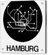 Hamburg Black Subway Map Acrylic Print