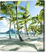 Hammock At Bora Bora, Tahiti Acrylic Print
