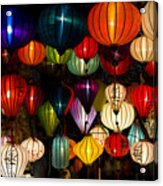 Handcrafted Lanterns In Ancient Town Acrylic Print