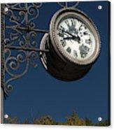 Hanging Clock Acrylic Print