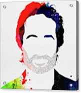 Hank Moody Watercolor Acrylic Print