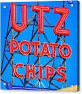 Hanover Pa Skyline - Utz Potato Chips No. 1 - Carlisle Street Acrylic Print