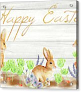 Happy Easter Bunnies (rectangle) Acrylic Print