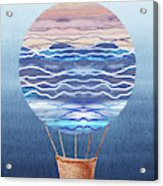 Happy Hot Air Balloon Watercolor Xxvi Acrylic Print