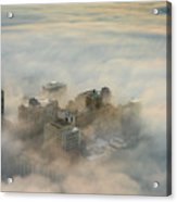 Harborview In The Clouds Acrylic Print