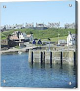 harbour at St. Abbs, Berwickshire Acrylic Print