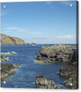 harbour entrance at St. Abbs, Berwickshire Acrylic Print
